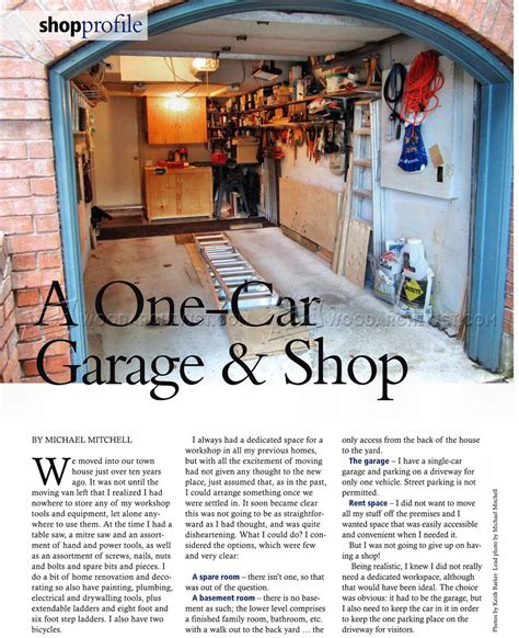 Furniture Layout Tool a one car garage workshop woodarchivist
