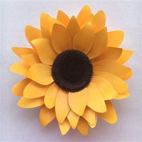Sunflower With Paper - diy sunflower paper flower template for silhouette or cricut