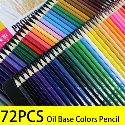 based colored pencils 72 colored pencil set drawing base for artist