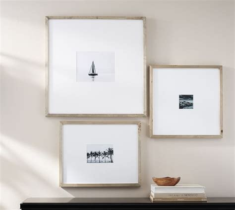 Oversized Mat Frames by Wood Gallery Oversized Mat Frames Pottery Barn