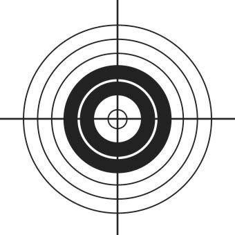 printable black and white targets target free vector graphics on pixabay