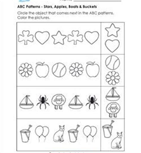 ab pattern activities smartboard pattern worksheets for kindergarten a wellspring of
