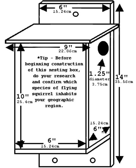 Flying Squirrel House Plans Southern Flying Squirrel Nesting Box Advertisement Many Thanks To Glaucomys Org For These Nest