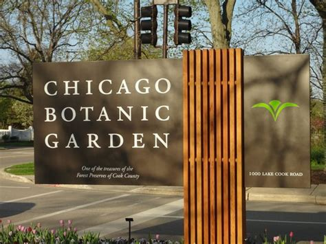 Chicago Botanic Garden Hours by The Curving Bridge From The Plant Science Center Picture