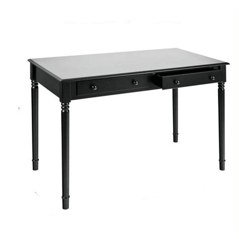 southern enterprises writing desk southern enterprises 2 drawer writing desk in satin