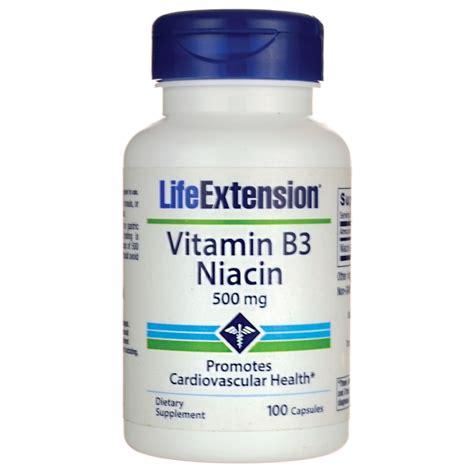 Garden Of Niacin Extension Vitamin B3 Niacin 500 Mg 100 Caps Swanson