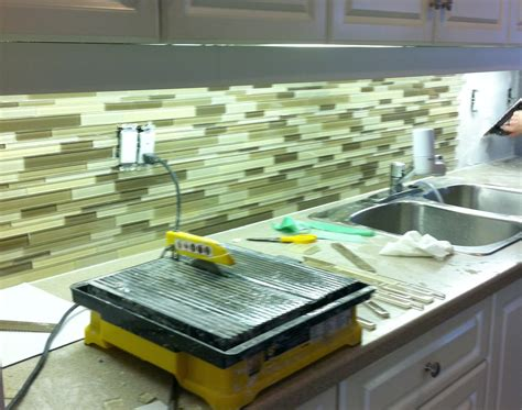 Glass Mosaic Tile Kitchen Backsplash Ideas Green Glass Kitchen Backsplash Home Design