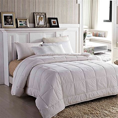fluff down comforter amor amore white soft fluffy reversible down alternative