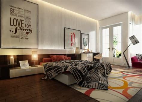 desain grafis dinding kamar desain kamar tidur kontemporer konsep desain rumah