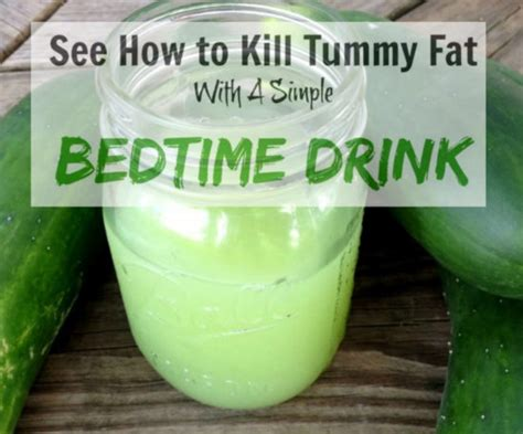fat burning drinks before bed what can you drink at night to help you lose weight