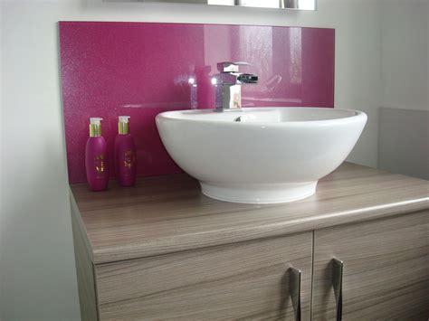 bathroom glass splashback ideas the number one uk basin splashback suppliers sprayed