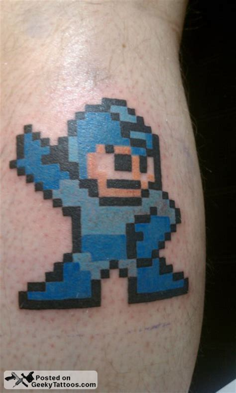 megaman tattoo mega geeky tattoos