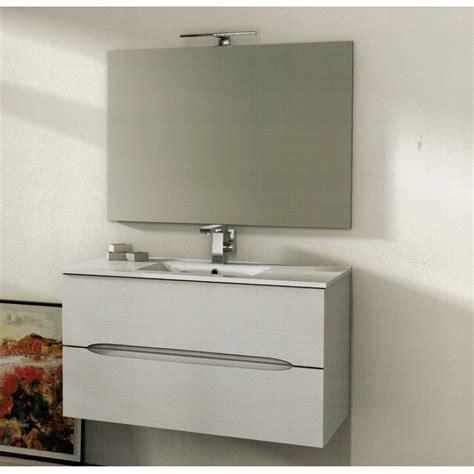 mobile bagno 100 cm baden haus mobile da bagno 100 cm frassino bianco sospeso