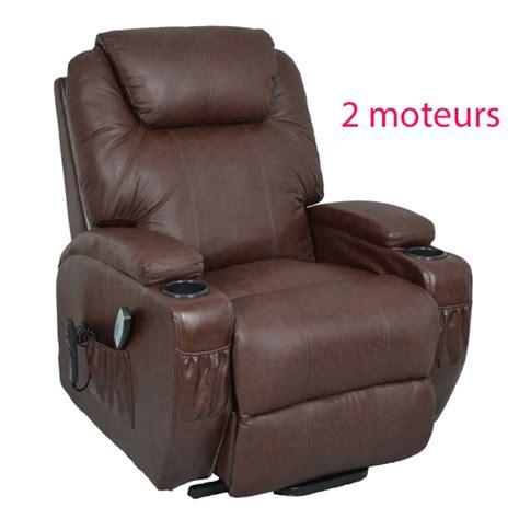 fauteuil relax massant chauffant releveur cuir kalinka 2