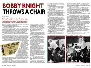 you are there bobby throws a chair referee magazine
