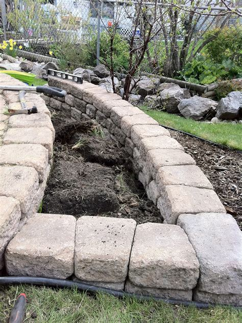flower bed edging stone build stacked stone flower bed in few hours hope for the