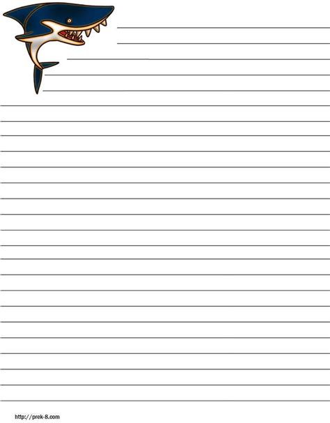 themed writing paper template elementary writing paper printable kindergarten paper
