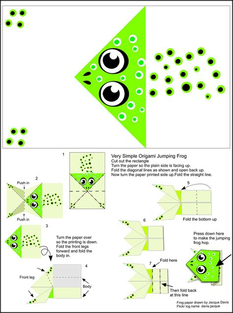 How To Make A Jumping Frog Origami - origami frog pattern 171 embroidery origami