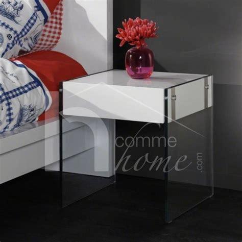 table de nuit verre table de chevet en verre table de chevet design en verre