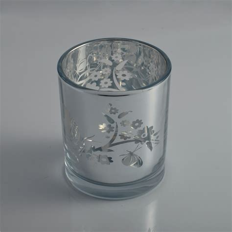 Glass Candle Jars Luxury Electroplating Laser Votive Candle Glass Jar Votive