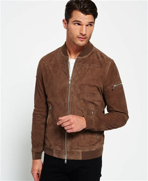 Superdry Suede Bomber Jacket mens leather jackets designer leather coats superdry