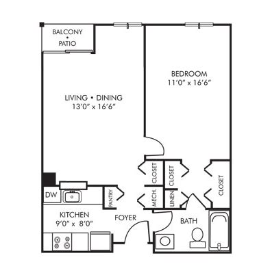1 Bedroom Apartments 800 by Rollingcrest Commons Senior Apartments Rentals
