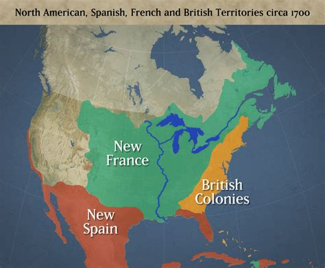map of the us during the 1700s america and territories c