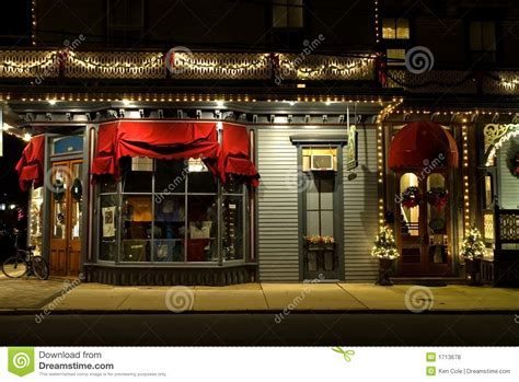 victorian storefront at christmas stock photo image of