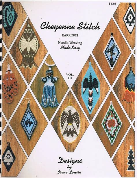 collection beading patterns volume 1 books cheyenne stitch seed bead earrings pattern craft book iii