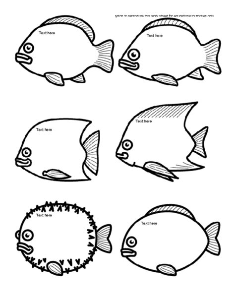 Free Printable Fish Templates