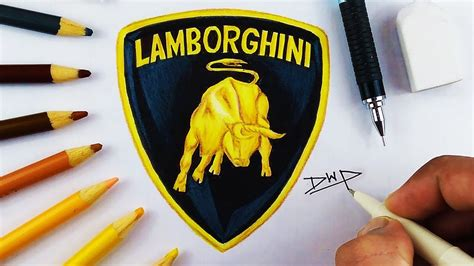 lamborghini symbol drawing how to draw the lamborghini logo symbol by easy
