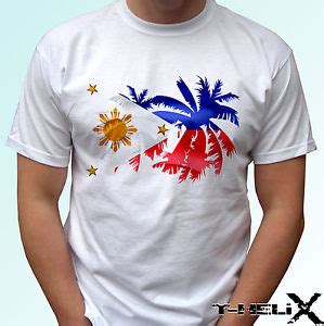 philippines palm flag white t shirt top design mens womens baby sizes ebay