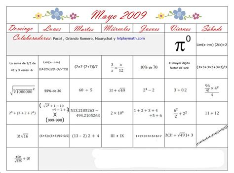 Calendario Mayo 2009 Heckathorn Calendario Mayo 2009