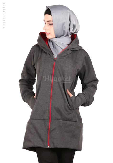 Jaket Hijaber Hijacket Japan Hj Js 1 Abu Tua Maroon Original 3 jaket hijaber japan grey hijacket jaket muslimah