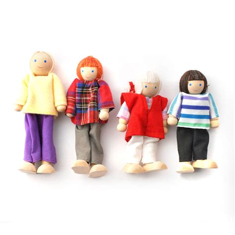 dolls house sets dcp003 wooden dolls family set online dolls house superstore