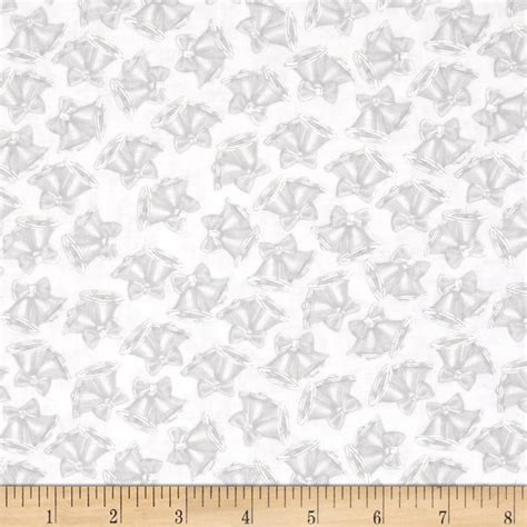 Wedding Bell Fabric kanvas mr mrs wedding bells ivory silver discount
