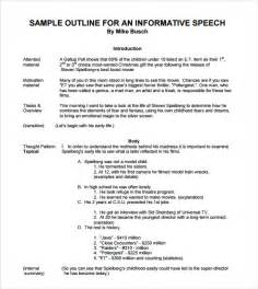 Informative Essay Outline Template by Sle Informative Speech Exles 7 Documents In Pdf