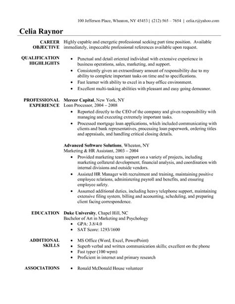 resume exle for administrative assistant sles of resumes