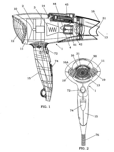 Diagram Of Hair Dryer patent ep1685775a1 hair dryer with electrostatic
