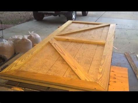 custom shed door designed  built   short video