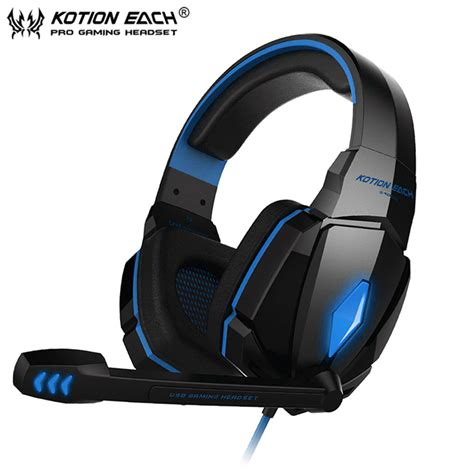 Kotion Each G4000 Gaming Headset Surround Headband With Led Light Blac casque de gamer pc amarina gh1860 casque gamer pc prix
