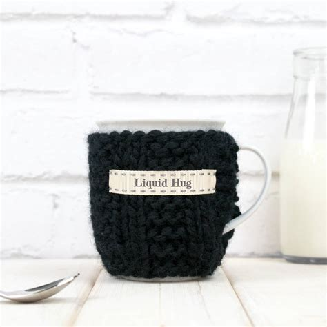 personalised knitted personalised knitted mug cosy by chi chi moi