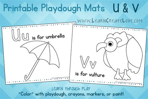 playdough mats booklet entire booklet printable printable playdough mats u and v