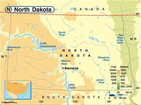 map usa dakota dakota map and dakota satellite images