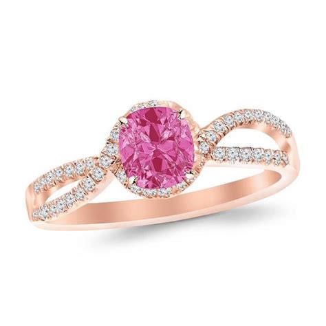 Pink Sapphire Engagement Rings by Gold Engagement Rings Gold Engagement Rings