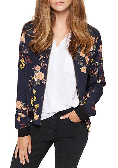 J 42565 Flower Jaket sanctuary floral bomber jacket belk