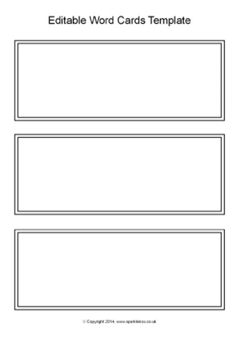Flash Card Template Word 2011 by Editable Primary Classroom Flash Cards Sparklebox