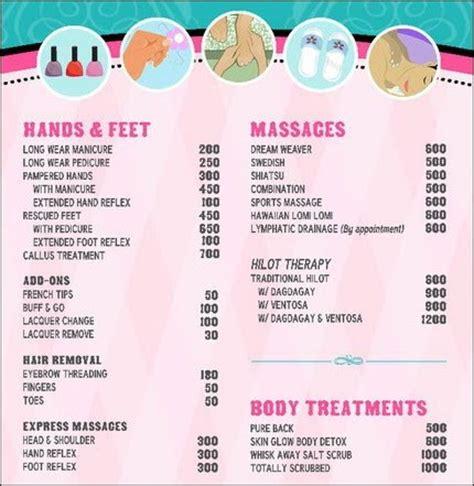 Nail Salon Services by 117 Hair Salon Price List 3 791x1024 Hair Salon Price List