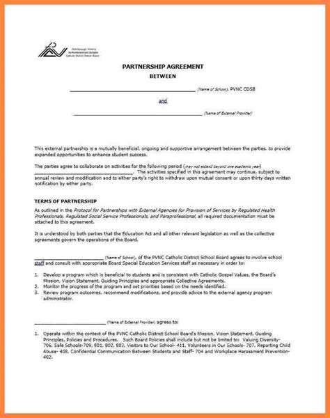 8 business partner agreement template bussines proposal