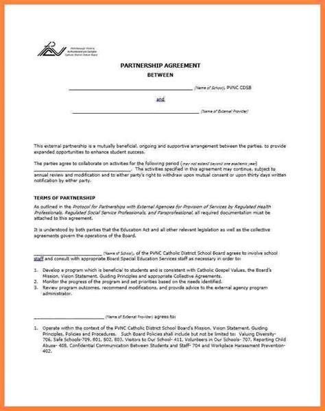 partner business plan template 8 business partner agreement template bussines